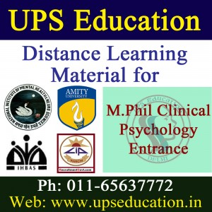 M.Phil Clinical Psychology Distance Material