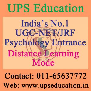 Distance Learning Mode for UGC-NET/JRF Psychology entrance
