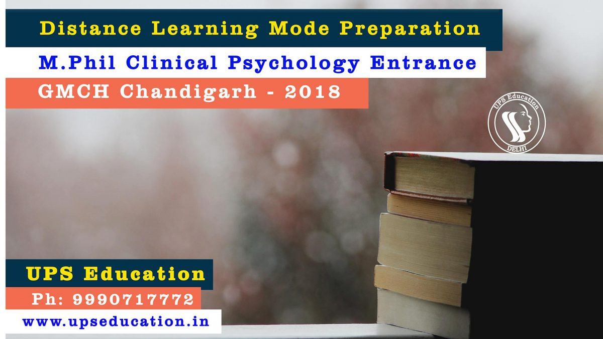 M.Phil Clinical Psychology Preparation through distance learning mode coaching