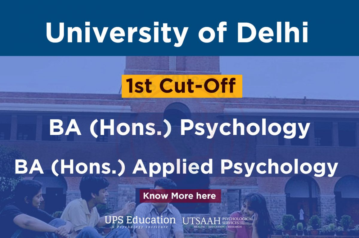 DU BA Psychology cut-off 2019