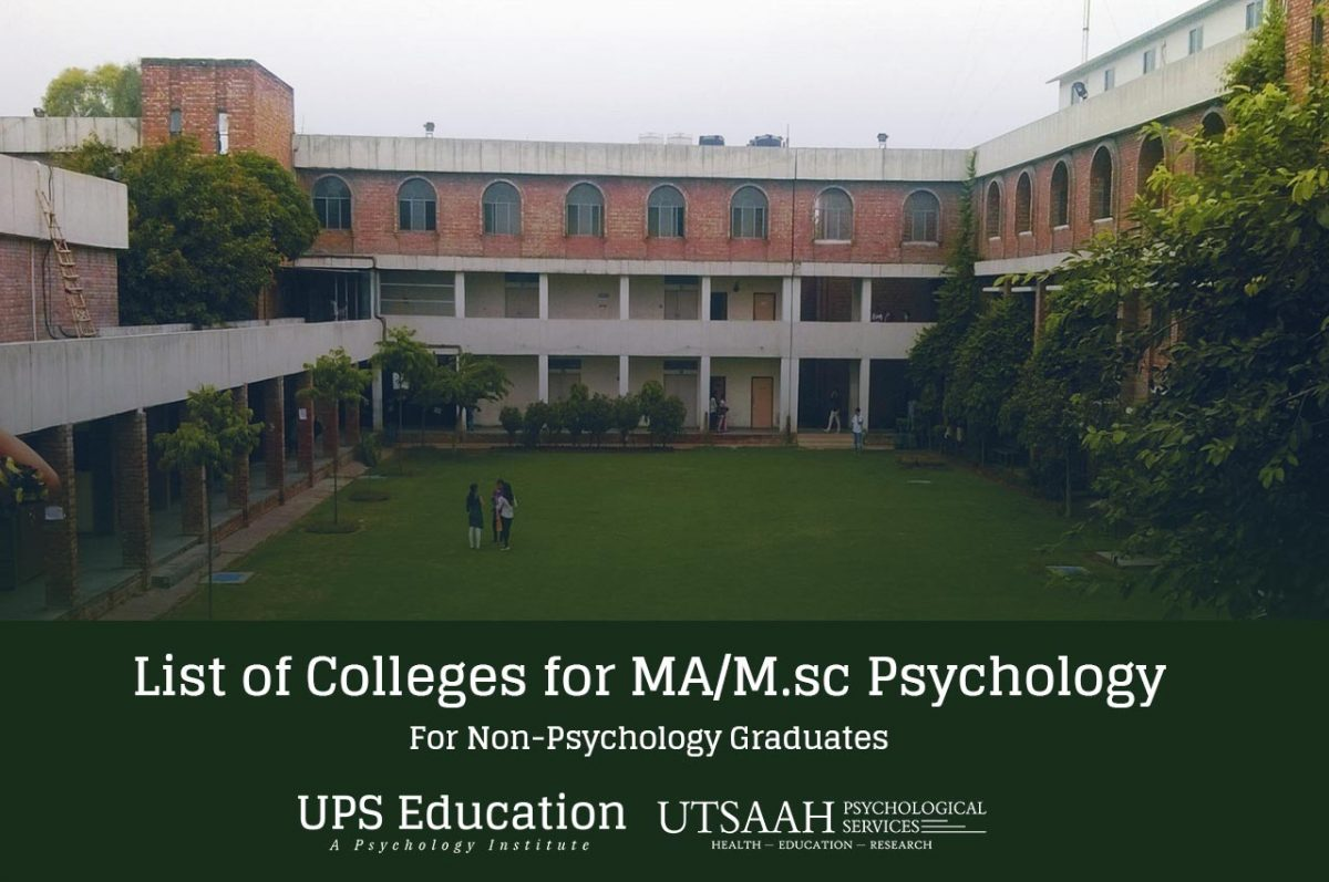 MA Psychology Colleges for Non-Psychology Students