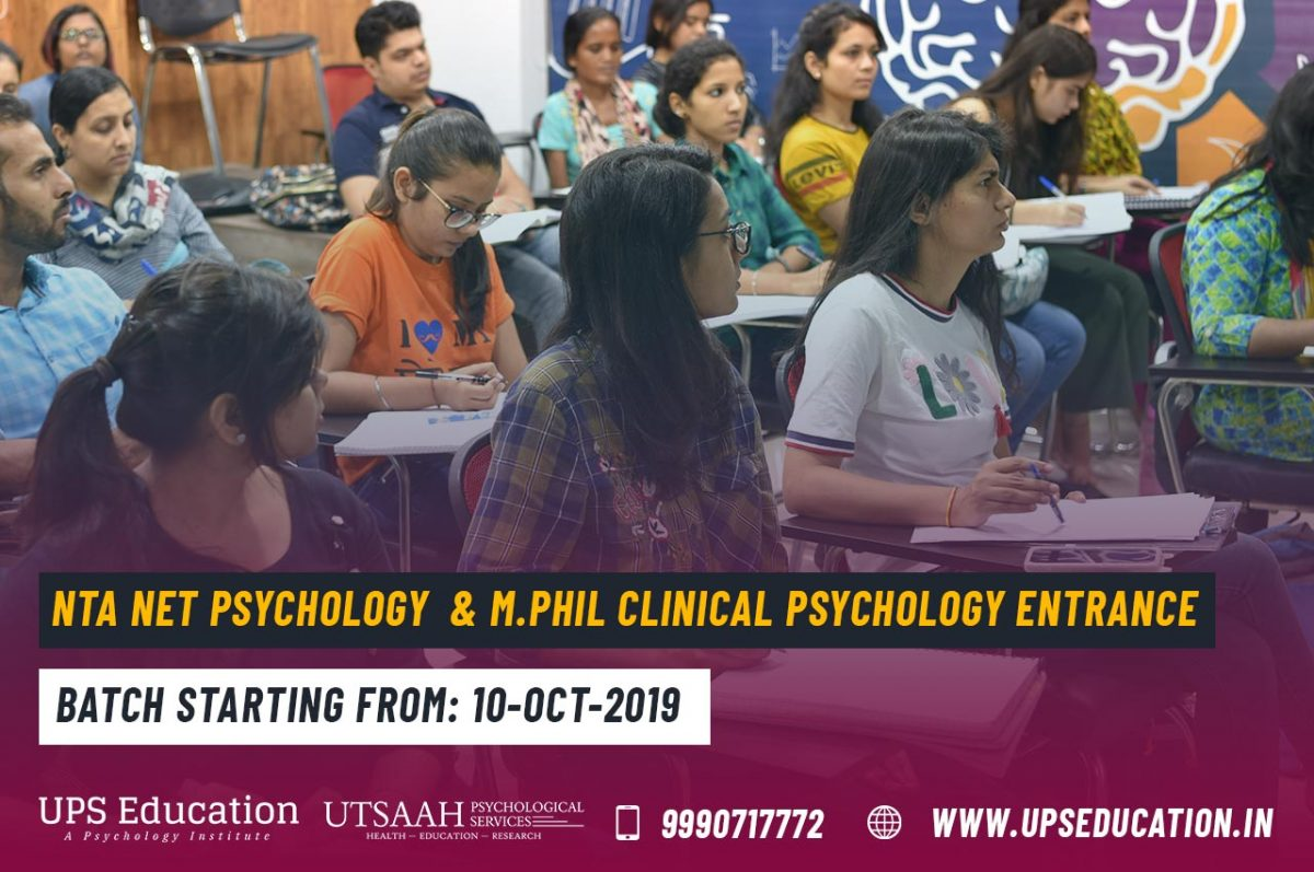 Coaching for NET JRF Psychology and M.Phil Clinical Psychology Entrance