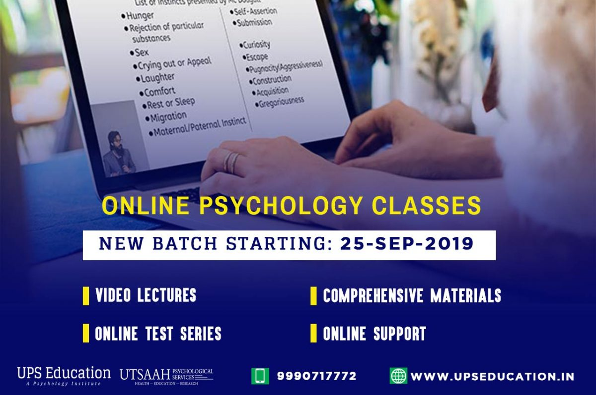 Online Classes for NTA NET Psychology December 2019