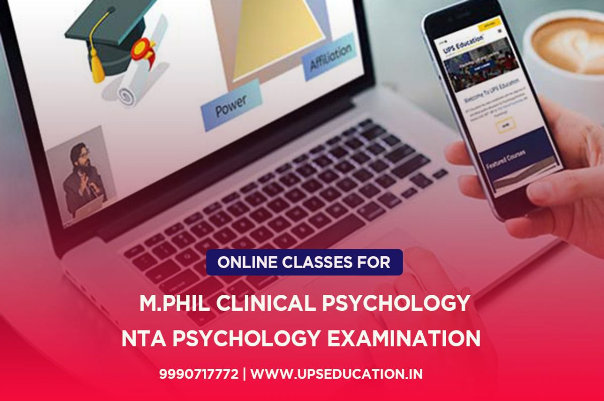 Online M.Phil Clinical Psychology & UGC NET/JRF Psychology Coaching