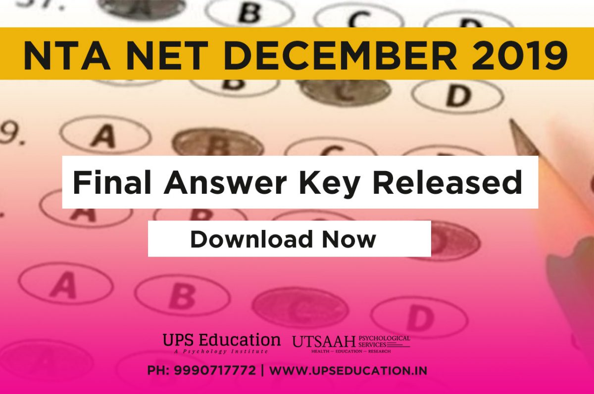 NTA NET December 2019 Final Answer key released – Download Now