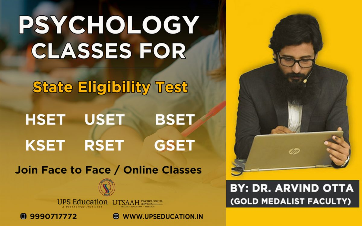 Psychology Coaching for State Level Eligibility Test SLET/SET