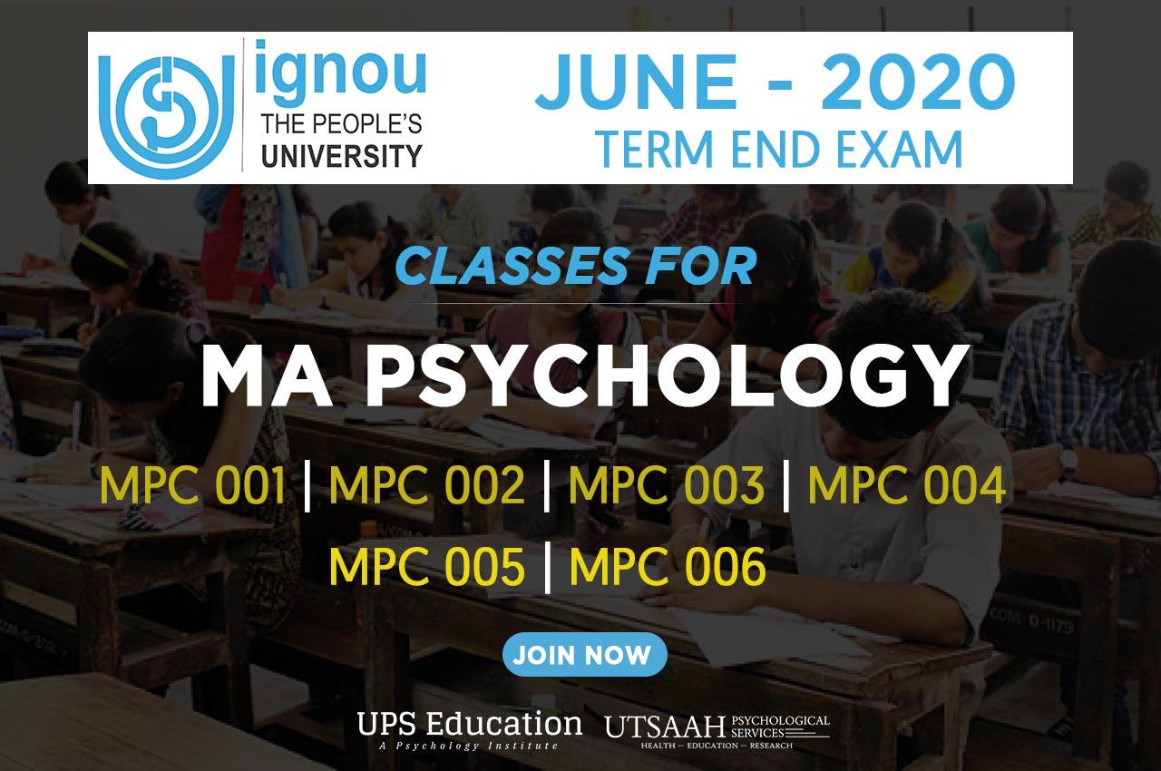 IGNOU MA Psychology Classes