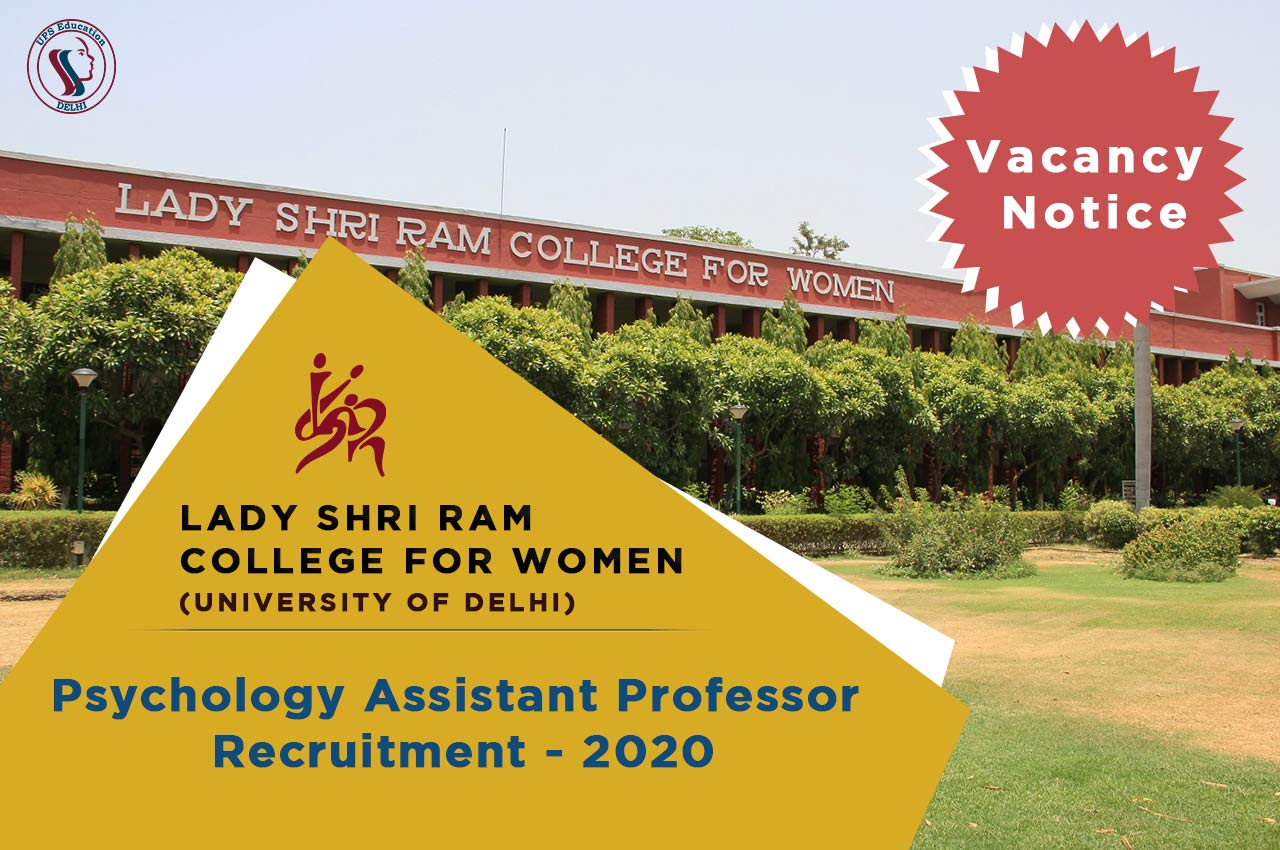 Psychology Assistant professor job in delhi university