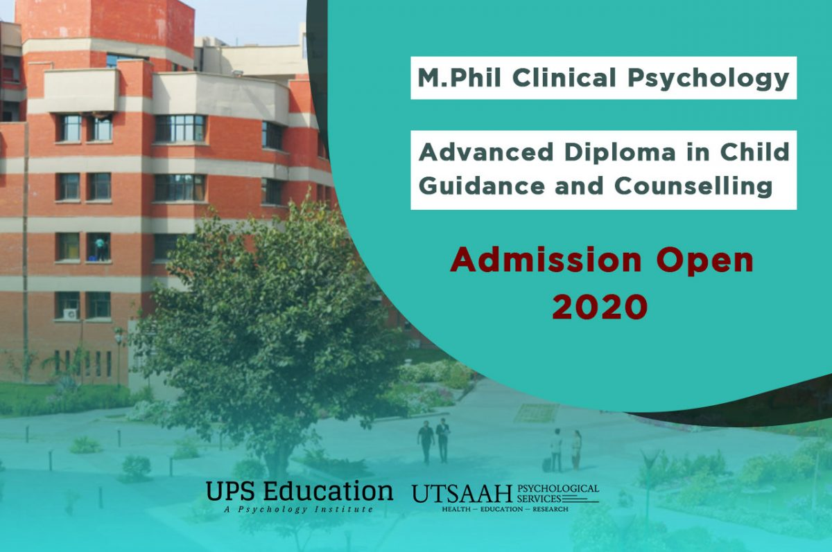 M.Phil Clinical Psychology and ADCGC Diploma Admission open 2020