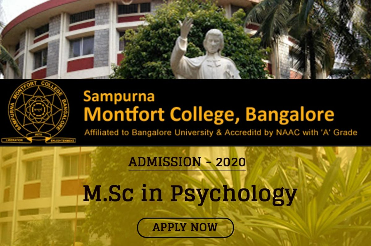 M.Sc Psychology Admission 2020 Open in Sampurna Mountfort College, Bangalore