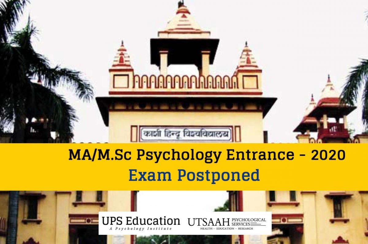BHU MA/M.Sc Psychology Entrance 2020 Postponed