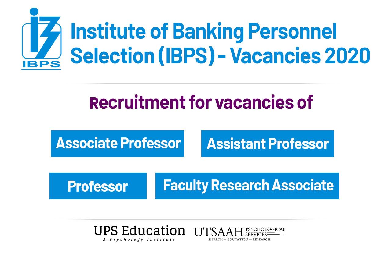 IBPS Psychology Vacancies