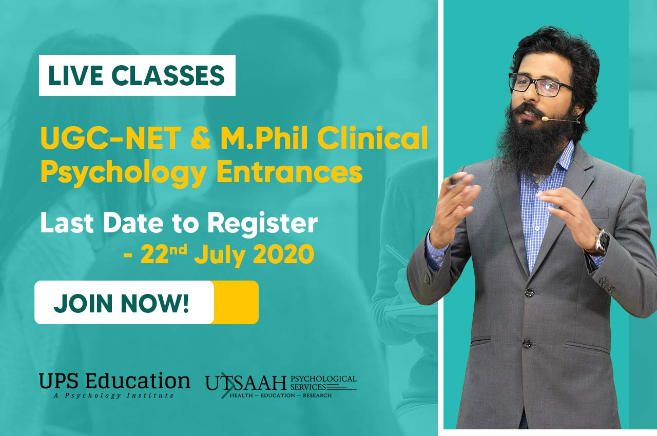 live classes for UGC NET & M.Phil Clinical Psychology entrance exam preparation