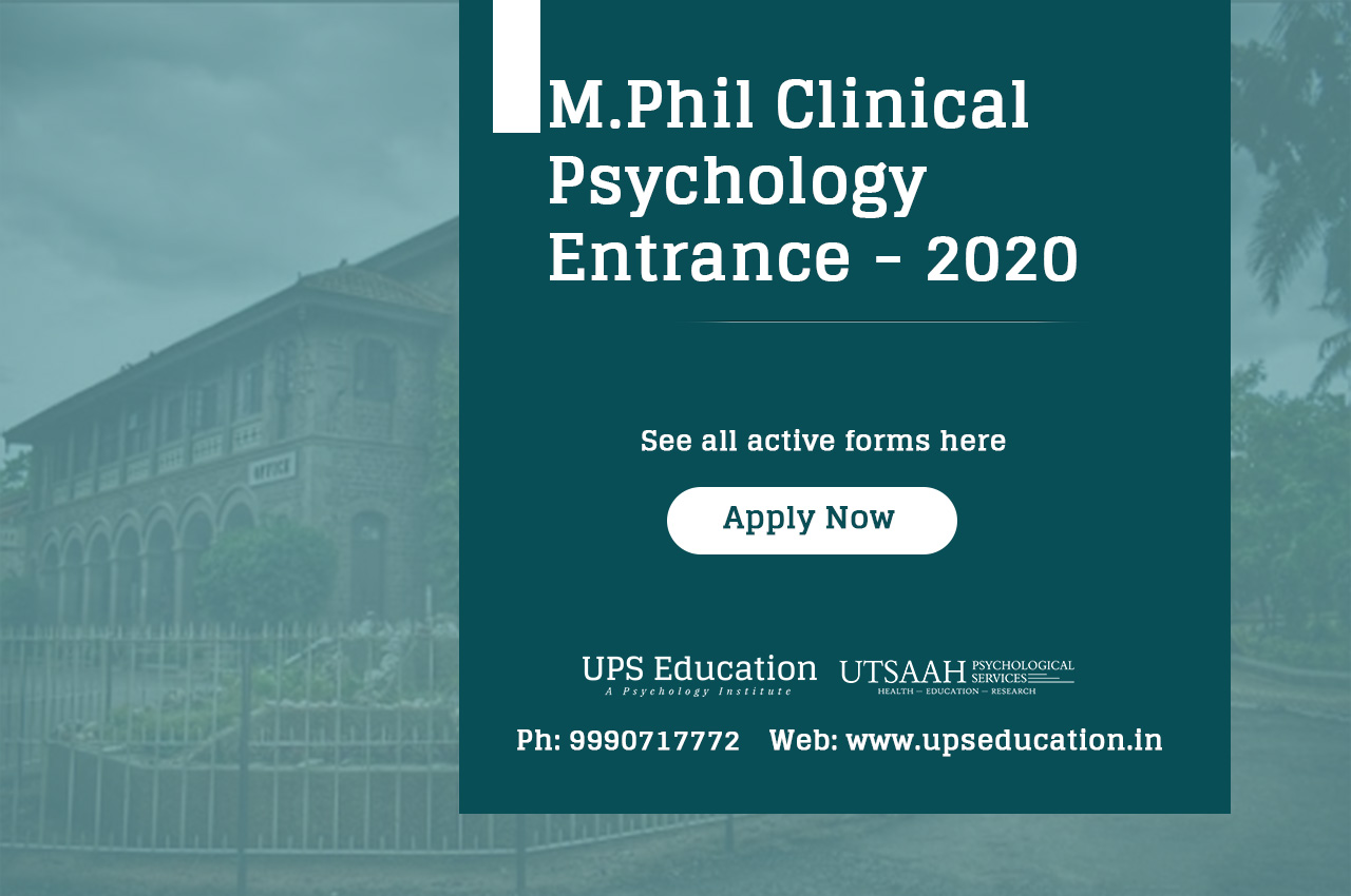 M.Phil Clinical Psychology Entrance admission