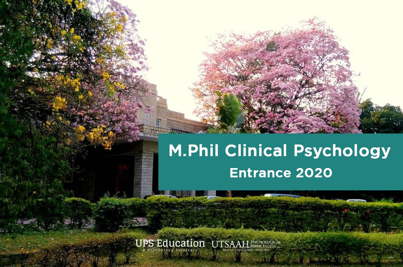 M.Phil Clinical Psychology Entrance 2020