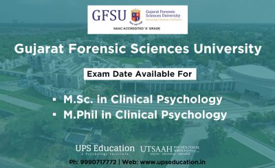GFSU MSc/M.Phil in Clinical Psychology Entrance Date 2020
