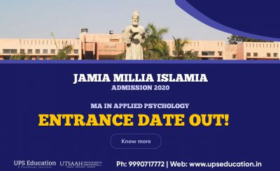 JMI MA Applied Psychology Entrance Date 2020 Out