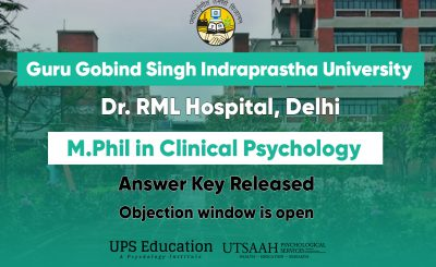 RML IPU M.Phil Clinical Psychology Answer key/Objection window Open