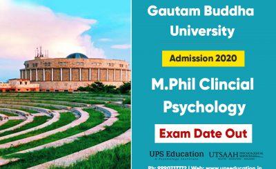 GBU M.Phil Clinical Psychology Entrance Date 2020