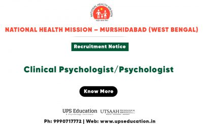 Psychologist recruitment 2020 in National Health Mission – Murshidabad (West Bengal)