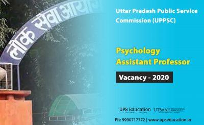 Psychology Assistant Professor Vacancies 2020 UPPSC