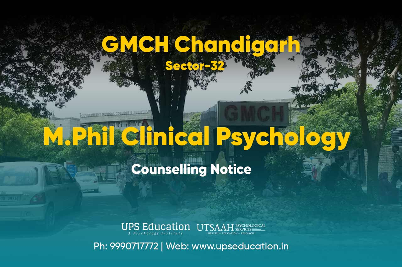 Counselling Notice for GMCH M.Phil Clinical Psychology 2020