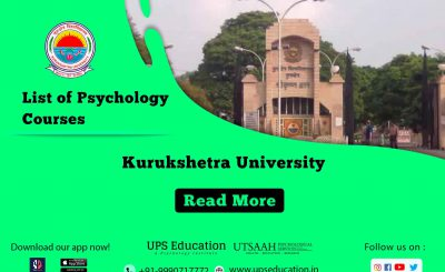 Kurukshetra Univesity List of Psychology Courses.
