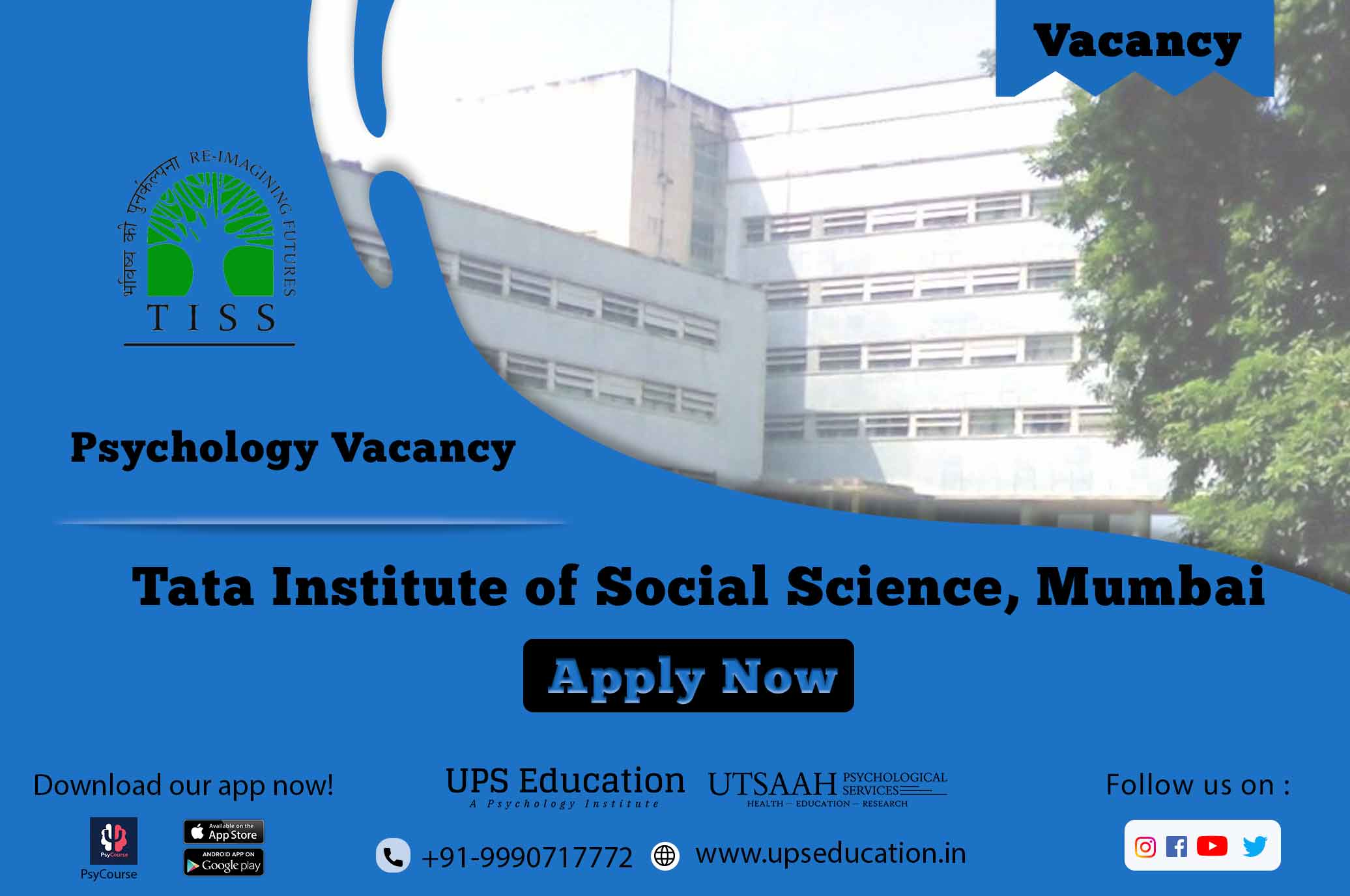 Psychology vacancy in TISS