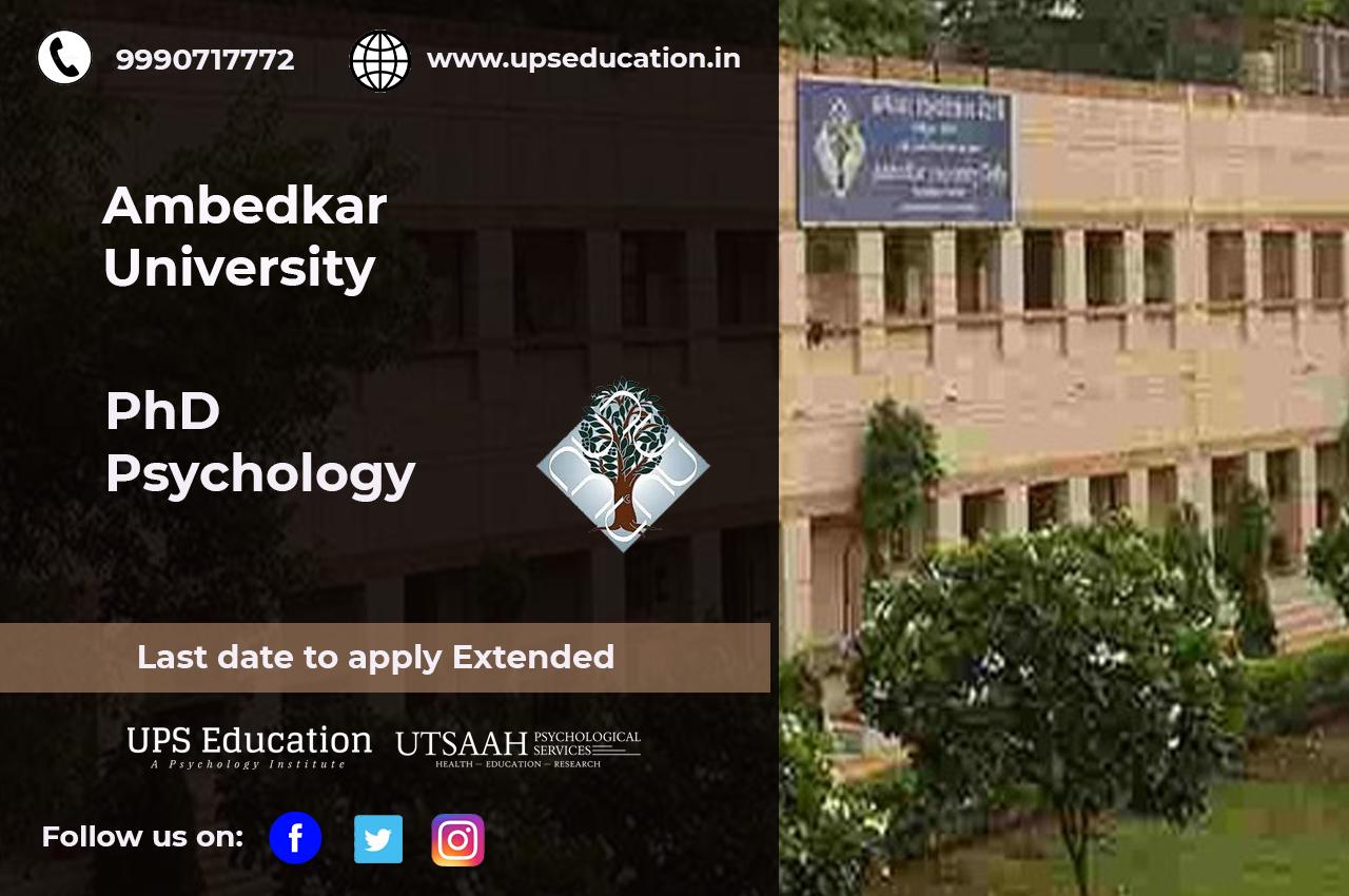 Ambedkar University PhD in Psychology