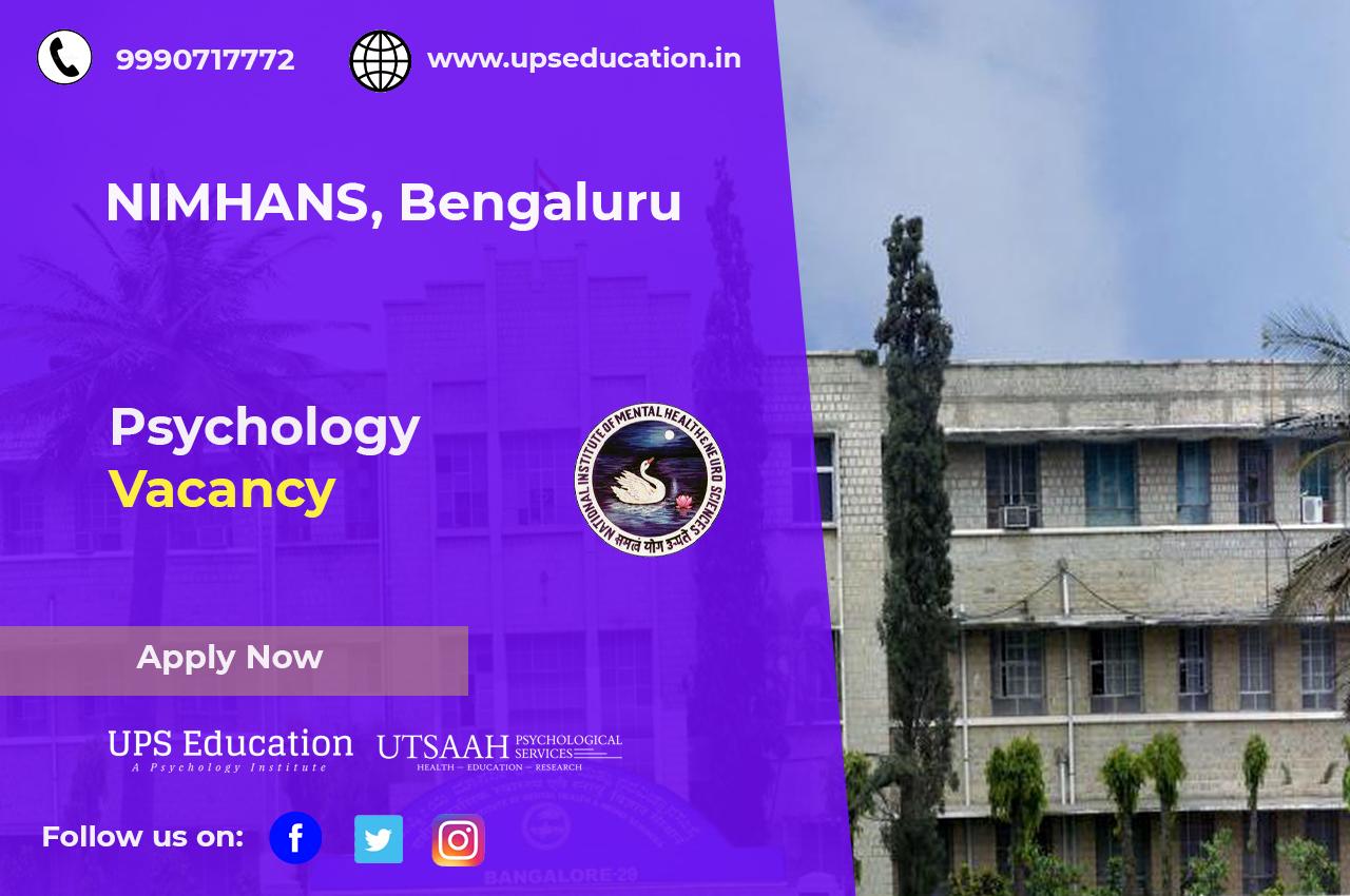 Psychology vacancy at nimhans