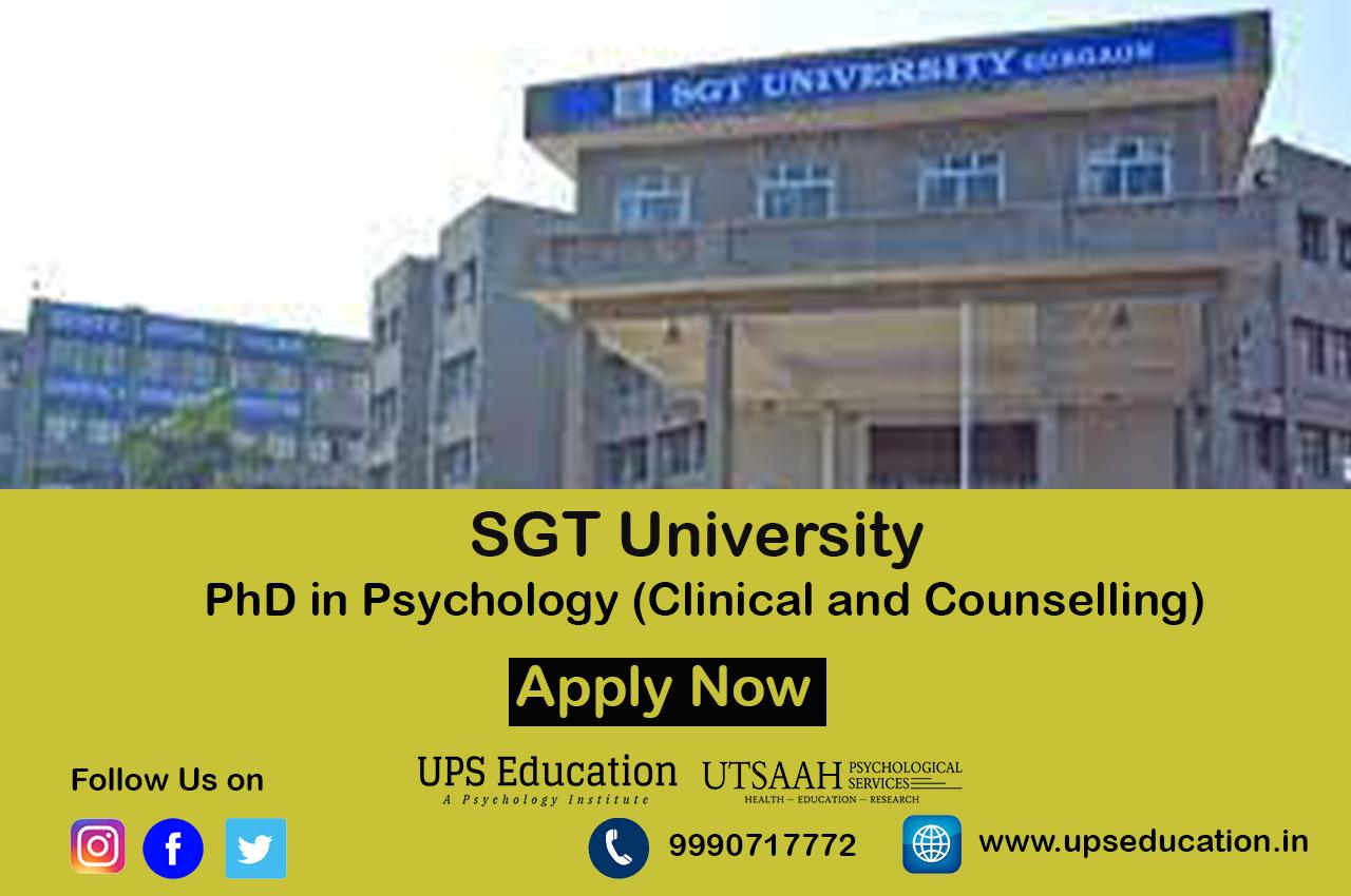 SGT University PhD in Psychology