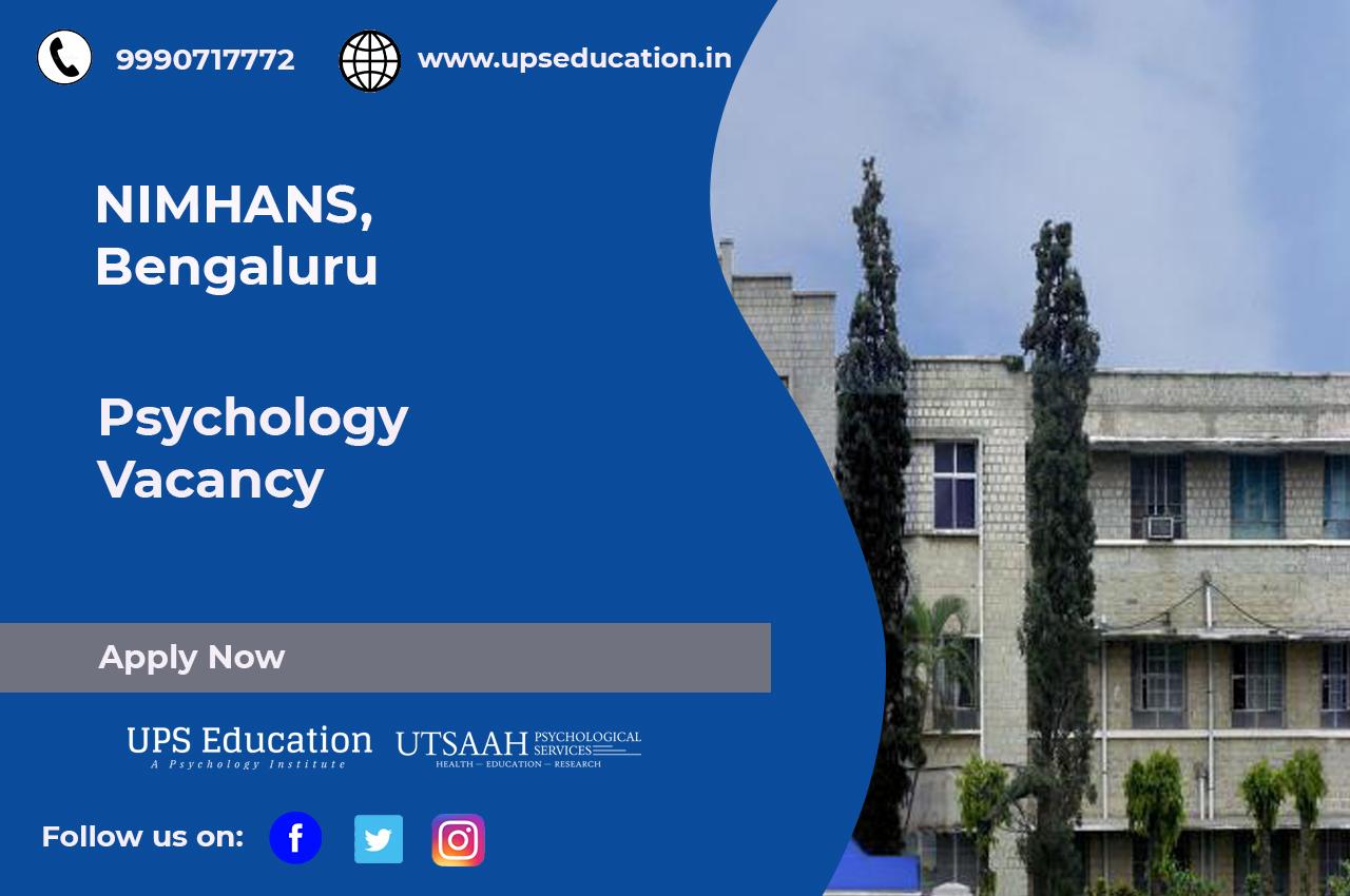 Nimhans Psychology Vacancy