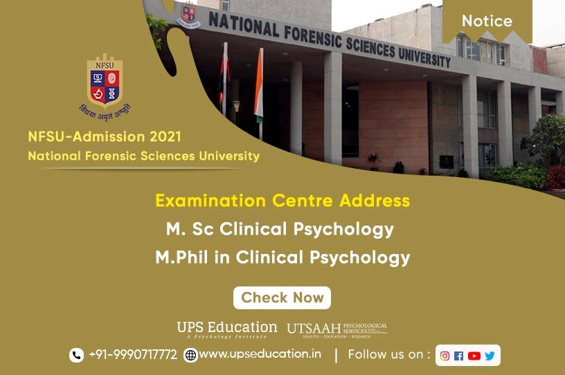 Examination Centre Address for NFSU Entrance Examination 2021—UPS Education