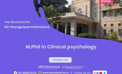 M.Phil Clinical Psychology Fee Structure for RCI Recognized Institutions—UPS Education