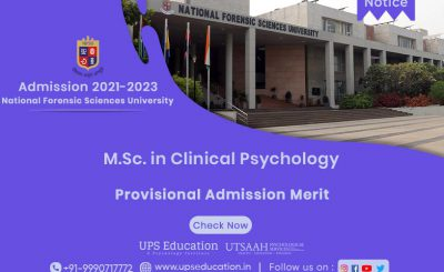 NFSU MSc. in Clinical Psychology Provisional Admission 2021—UPS Education